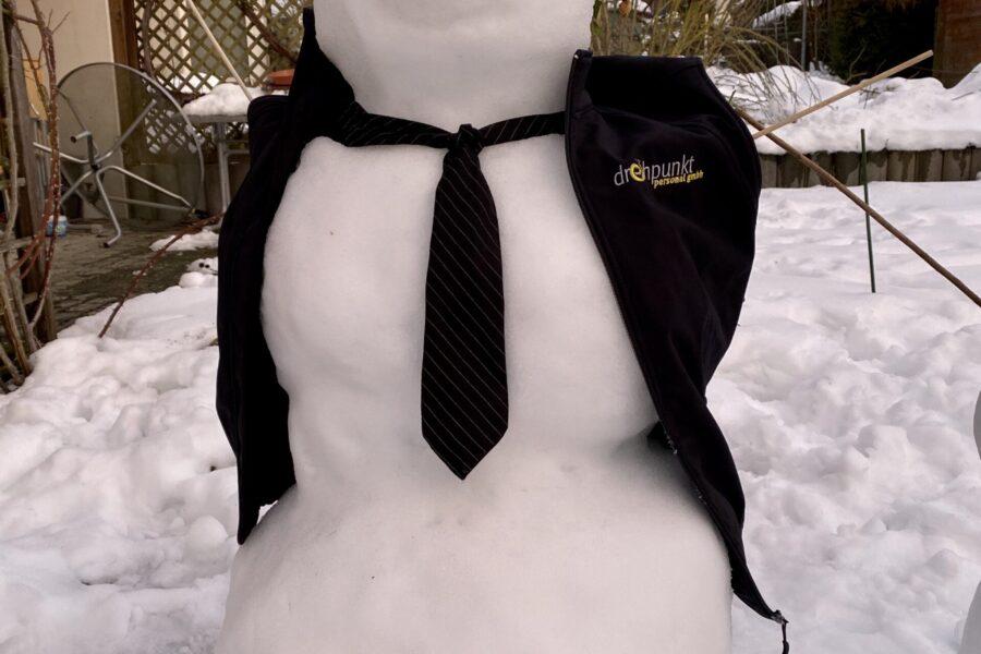 Auch wir geniessen den Schnee…